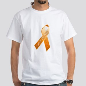 AO Orange Ribbon White T-Shirt
